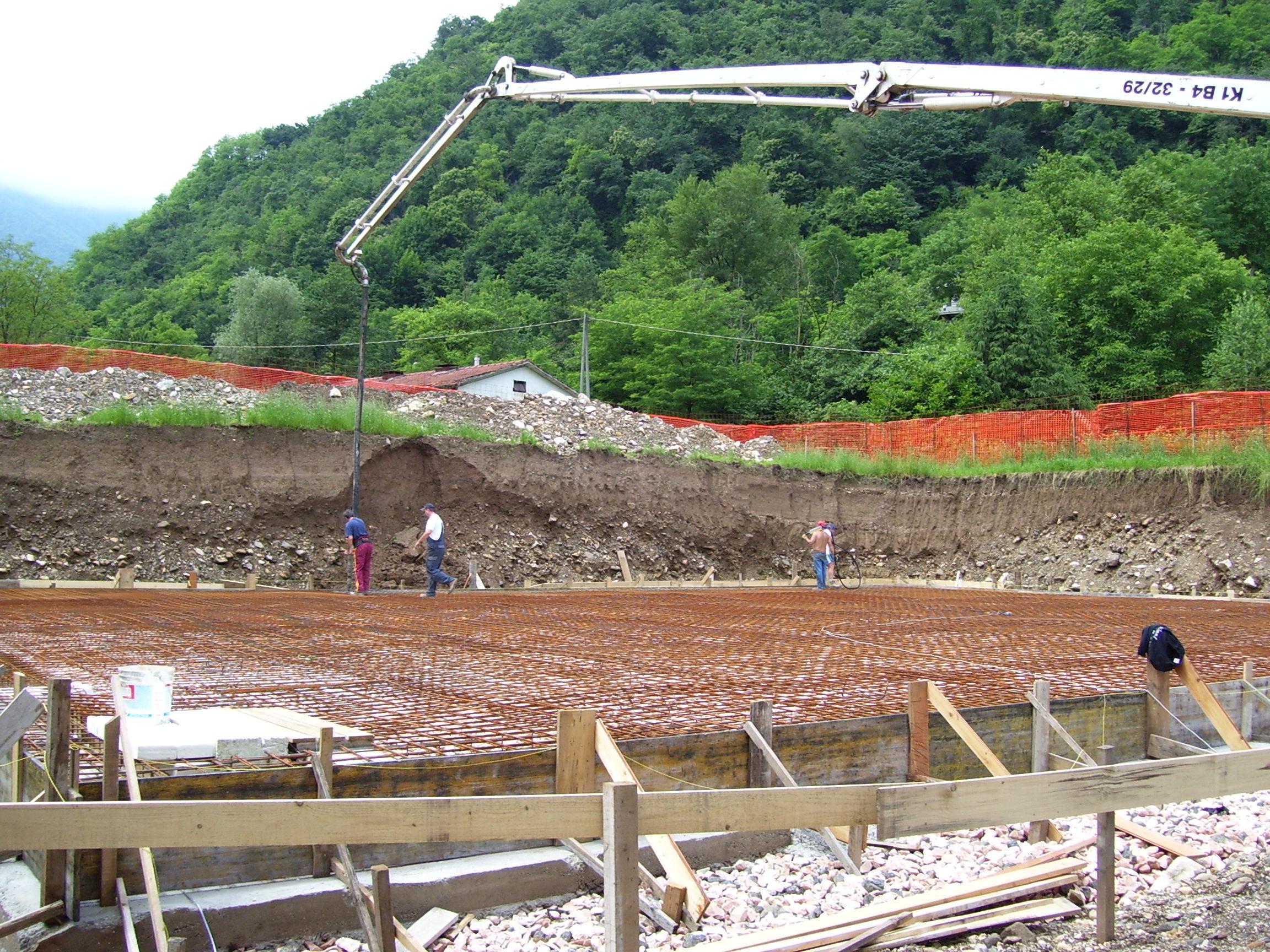 Realizzazione di un basamento per capannone agricolo a Torrebelvicino